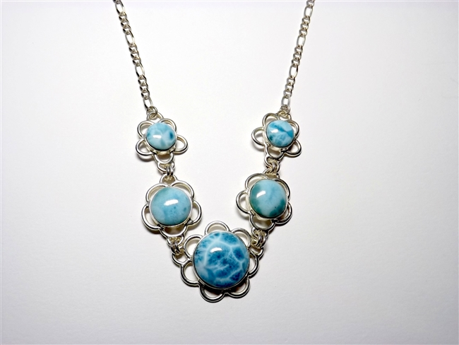 Larimar Necklace  'Rose'