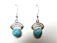 Larimar Earrings 'Spiral'