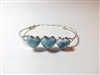 Bangle  'Three Hearts'