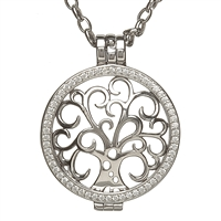 Silver Celtic Disc Holder Pendant With Removeable Tree of Life Disc