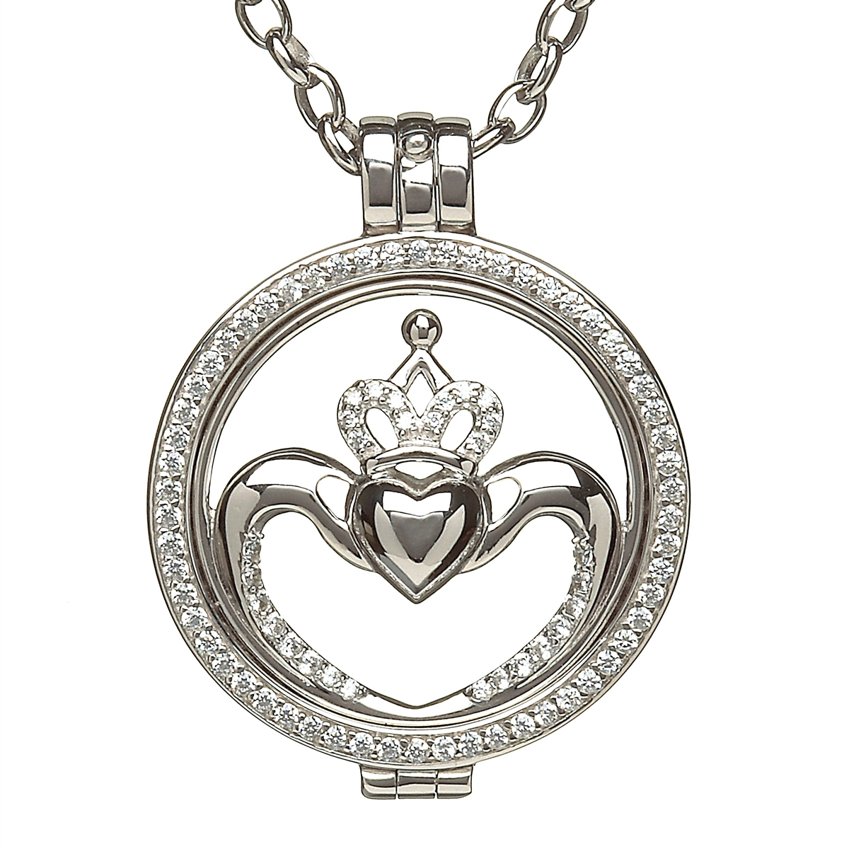with love necklaces jewelry irish men item real from in cross gift platinum women religious pendant gold necklace claddagh plated crown color