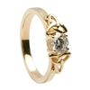 14k Yellow Gold Diamond 0.50cts Trinity Knot Celtic Engagement Ring