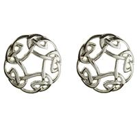 Sterling Silver Small Celtic Knot Stud Earrings