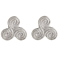 Sterling Silver Small Celtic Spirals Stud Earrings