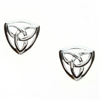 Sterling Silver Small Trinity Knot Celtic Stud Earrings