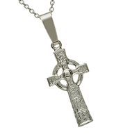 sterling Silver Mini Duleek Celtic Cross 18mm