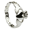 Sterling Silver Ladies Open Braided Shank Claddagh Ring 9mm