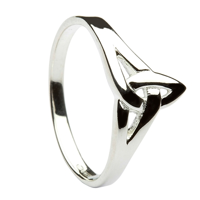 terling Silver Trinity Celtic Knot Ring 9mm