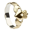 Gold Plated Over Sterling Silver Ladies Braided Shank Claddagh Ring 11mm