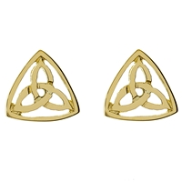 10k Yellow Gold Small Trinity Knot Celtic Stud Earrings