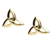 10k Yellow Gold Trinity Knot Celtic Stud Earrings