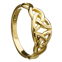 10k Yellow Gold Trinity Knot Celtic Ring 7mm