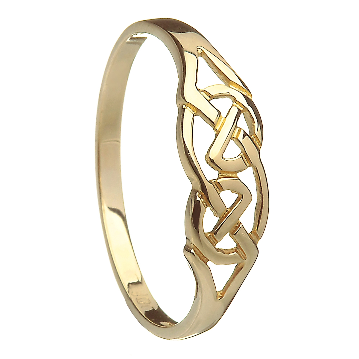 10k Yellow Gold Celtic Knot Ring 5mm