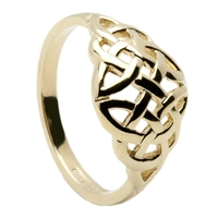 10k Yellow Gold Celtic Knot Ring 10mm