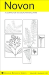 Novon 25 (2), A Journal for Botanical Nomenclature