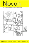 Novon 25 (3), A Journal for Botanical Nomenclature