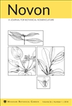Novon 26 (1), A Journal for Botanical Nomenclature
