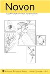 Novon, A Journal for Botanical Nomenclature 27(3)
