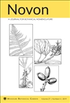 Novon, A Journal for Botanical Nomenclature 27(4)