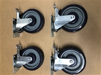 "<b>5"" Diameter Casters for All Model #4 & #5 Smokers</b>"