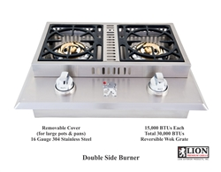 <b>Lion Double Side Burner Natural Gas</b>