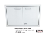<b>Lion Double Door with Towel Rack</b>