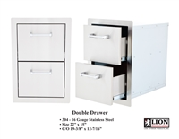 <b>Lion Double Drawers</b>