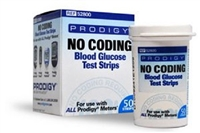 Blood Glucose Test Strips Prodigy 50 Strips per Box No Coding Required For All Prodigy Meters