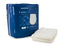 Adult Incontinent Brief McKesson Lite Tab Closure X-Large Bag of 15
