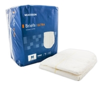 Adult Incontinent Brief McKesson Ultra Tab Closure Medium Bag of 16