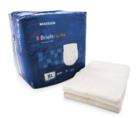 Adult Incontinent Brief McKesson Ultra Tab Closure X-Large Bag of 15