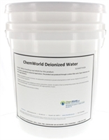 Deionized Water Type II Technical Grade - 5 Gallons