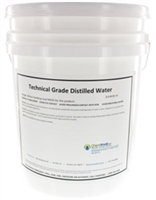 Technical Grade Distilled Water - 5 Gallons
