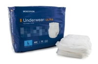 Adult Absorbent Underwear McKesson Ultra Pull On Large Disposable Heavy Absorbency