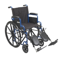 Blue Streak Wheelchair Flip Back Desk Arms, Elevating Leg Rests, 16in Seat