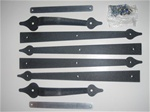 Carriage garage door decorative hardware kit spear style strap Hinge