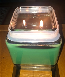 32 oz. Anchor Square Jar, Double Wick Soy Candle