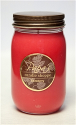 Strawberry Mason Jar Soy Candle graphic