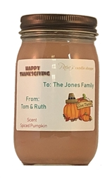 Thanksgiving Personalized Soy Candles