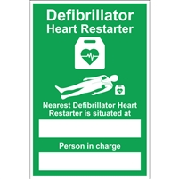 AED Sign - A4 Nearest / Person in charge