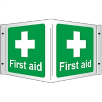 3D First Aid Sign