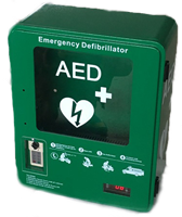 AED Cabinet - Outdoor Heated with Keypad