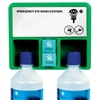 Eye Wash Wall Plate - 2 Bottles