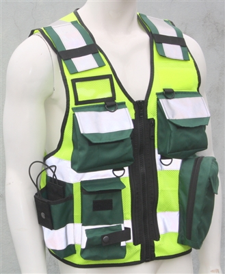 Tactical Vest - Paramedic ( Green / Yellow )
