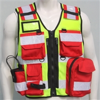 Tactical Vest - Fire / SAR ( Red / Yellow )