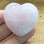 Rose Quartz heart large