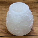 White Selenite Step T-Light Holder