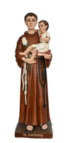 Saint Anthony of Padua 33 inch resin statue