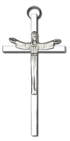 Silver plated Risen Christ 4 inch cross