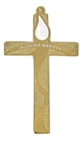 Gold 5 inch wall cross